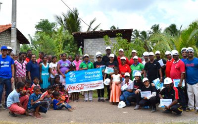 Habitat for Humanity Sri Lanka partners with Coca-Cola on a 'Corporate Team Build' program
